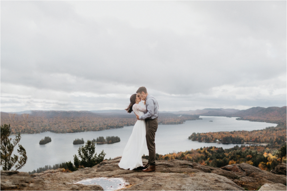 Lindsay and Joseph | Elopement on Rocky Mountain Inlet Adirondacks