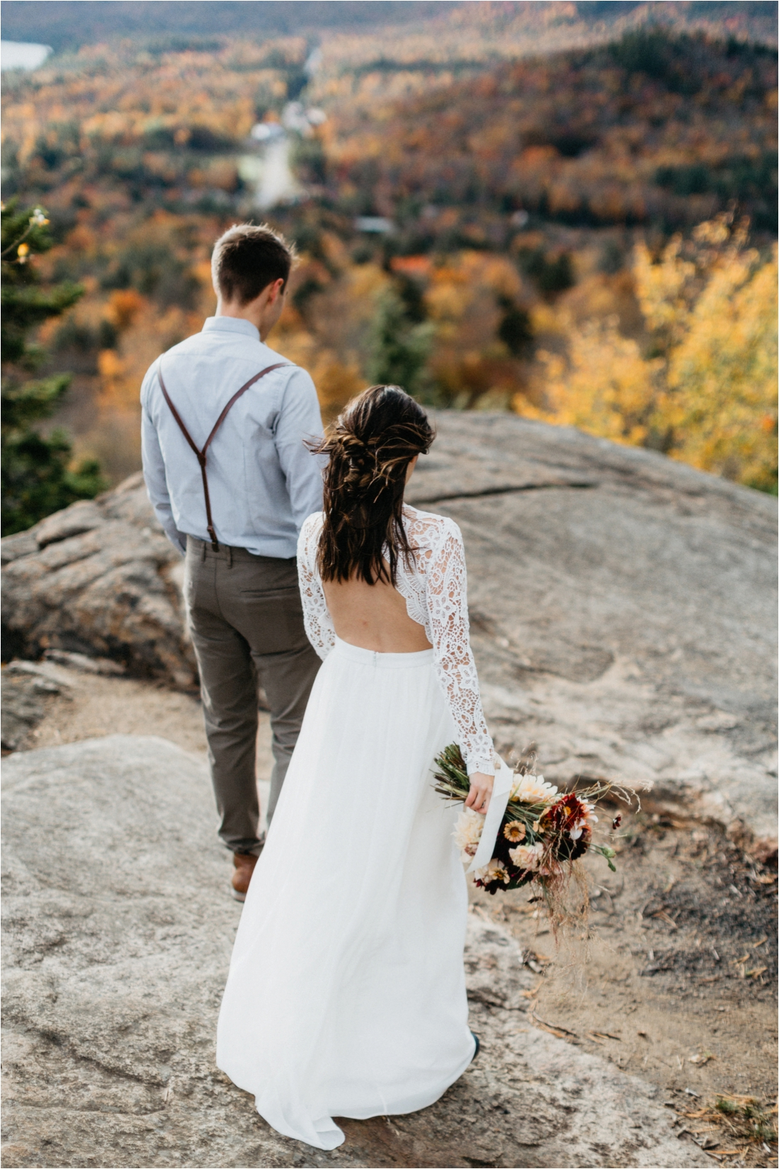 Elopement on Rocky Mountain near Inlet, Adirondacks | Shaw Photo Co. | Adirondack Wedding Photographer