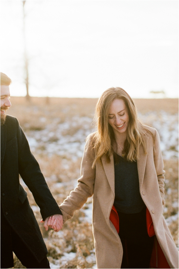 winter engagement session in buffalo new york
